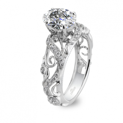 Cluster Oval cut Engagement Rings