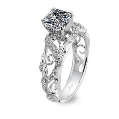 Cluster Princess cut Engagement Rings