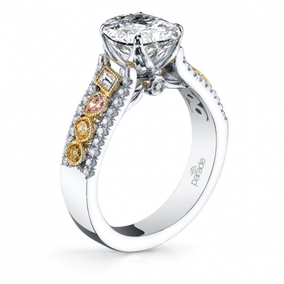 Cluster Pear cut Engagement Rings