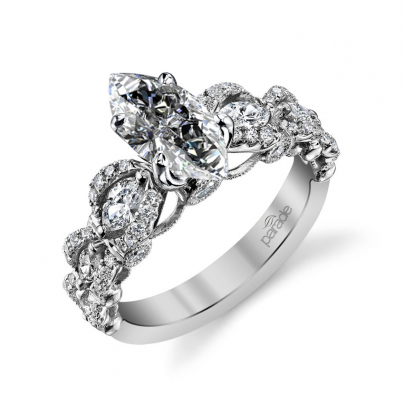 Cluster Marquise cut Engagement Rings