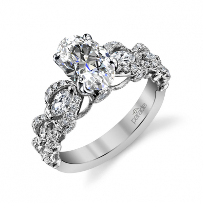 Knots Oval cut Engagement Rings