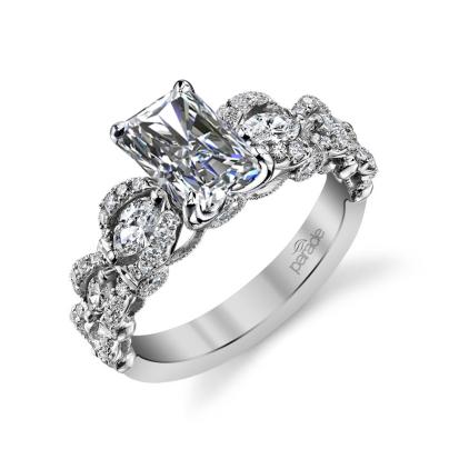 Knots Radiant cut Engagement Rings