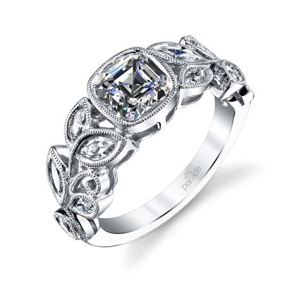 Cluster Bezel Set Engagement Rings