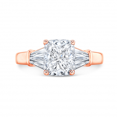 Rose Gold Channel Set Engagement Rings