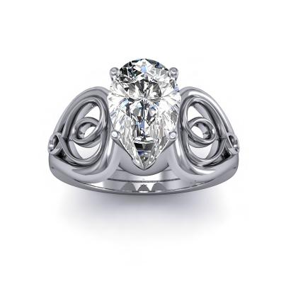 Hearts Pear cut Engagement Rings