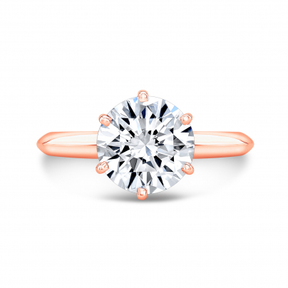 Rose Gold Engagement Rings Diamond Mansion