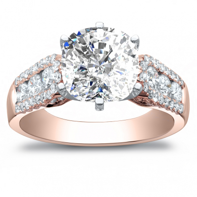 Rose Gold Bezel Set Engagement Rings