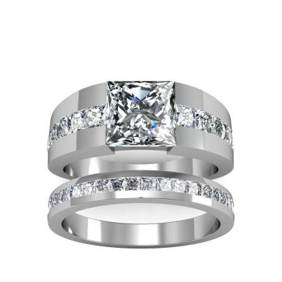 Contemporary Bridal Wedding Ring Sets