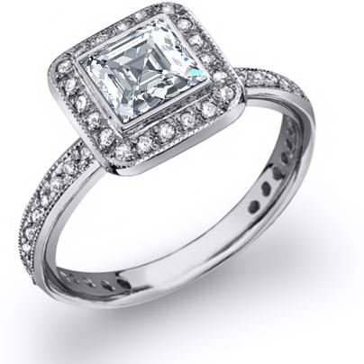 Platinum Bezel Set Engagement Rings
