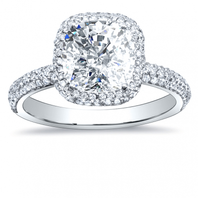 Contemporary Pave Engagement Rings