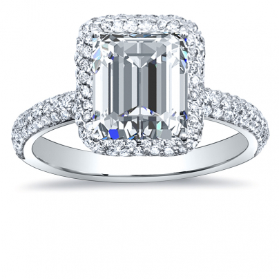 Art Deco Emerald cut Engagement Rings