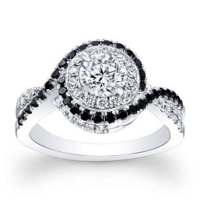 Black Accents Engagement Ring Settings