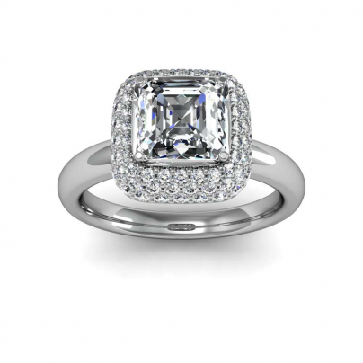 Art Deco Asscher cut Engagement Rings