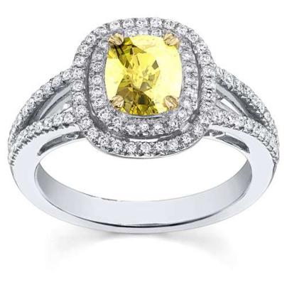 Antique Yellow Diamond Engagement Rings