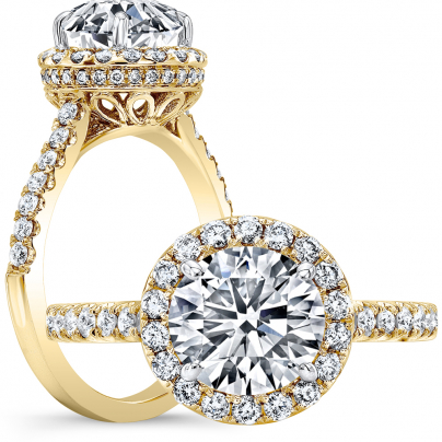Yellow Gold Engagement Ring Settings