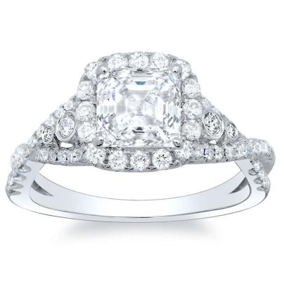 Unusual Asscher cut Engagement Rings