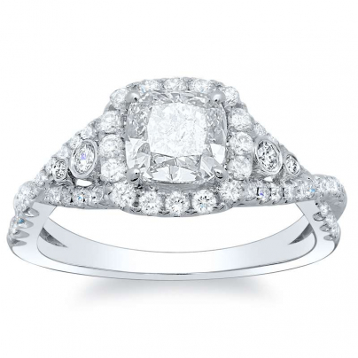 5 Stone Split Shank Engagement Rings