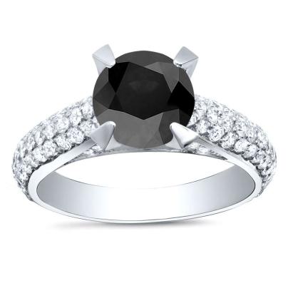 Modern Black Diamond Engagement Rings