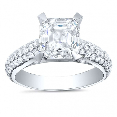 Modern Asscher cut Engagement Rings