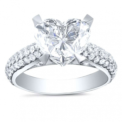 Art Deco Heart Shape Engagement Rings