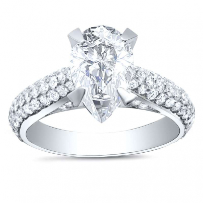 Art Deco Pear cut Engagement Rings