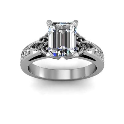 Celtic Emerald cut Engagement Rings
