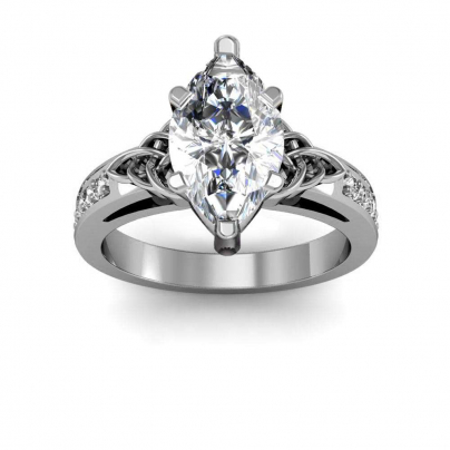 Trellis Marquise cut Engagement Rings