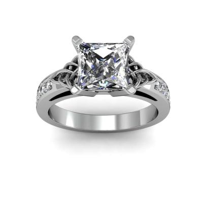 Trellis White Gold Engagement Rings