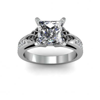 Celtic Princess cut Engagement Rings