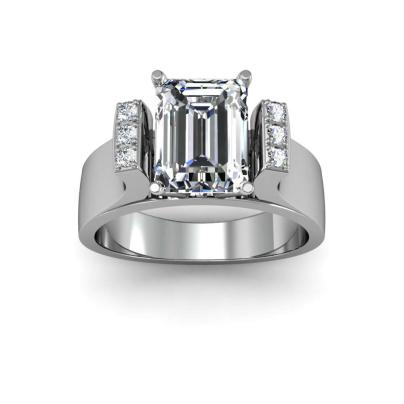 European Emerald cut Engagement Rings