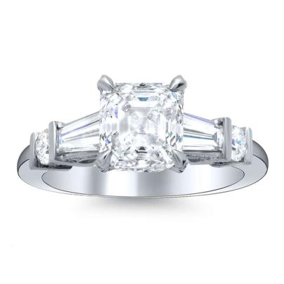 5 Stone Asscher cut Engagement Rings