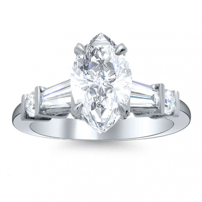 Tension Marquise cut Engagement Rings