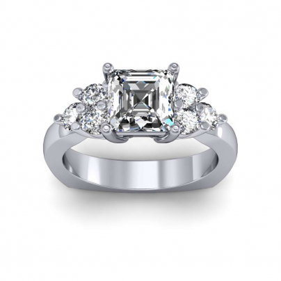 Trellis Platinum Engagement Rings