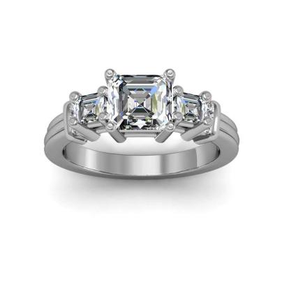Trellis Bezel Set Engagement Rings