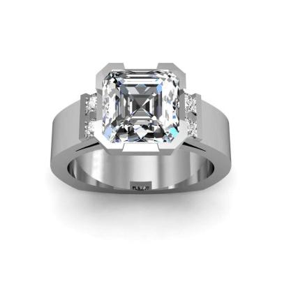 Euro Shank Asscher cut Engagement Rings