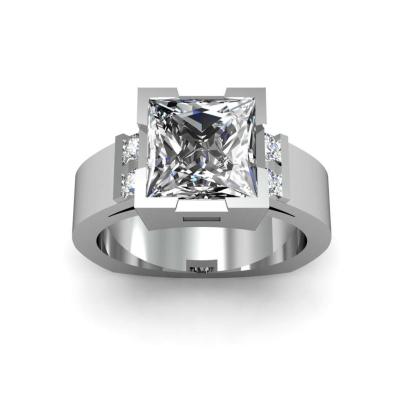 Euro Shank Princess cut Engagement Rings