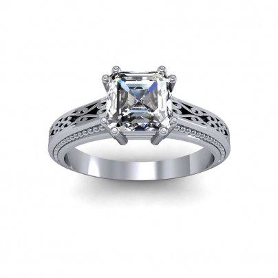 Filigree Solitaire Engagement Rings