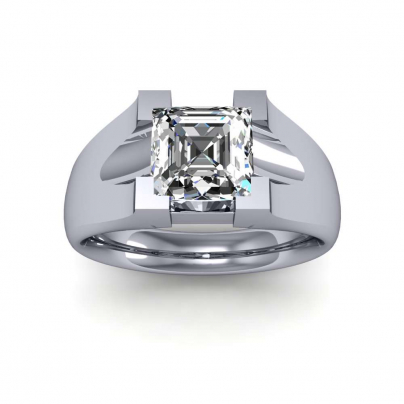 Tension Solitaire Engagement Rings