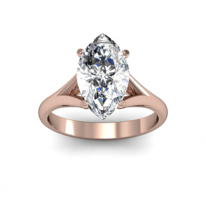Rose Gold Marquise Cut Engagement Rings Diamond Mansion