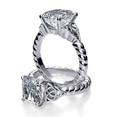 Modern Radiant cut Engagement Rings