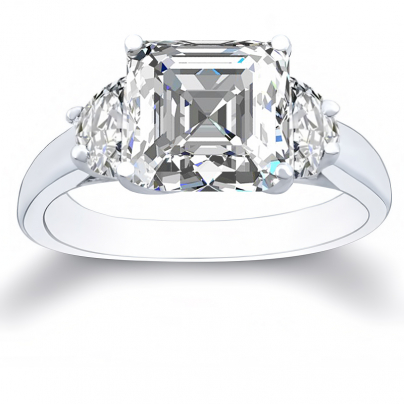 Cathedral Three Stone Engagement Rings