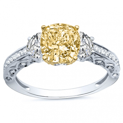 Vintage Yellow Diamond Engagement Rings