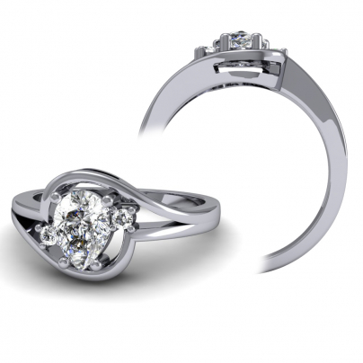 Split Shank Three Stone Engagement Rings