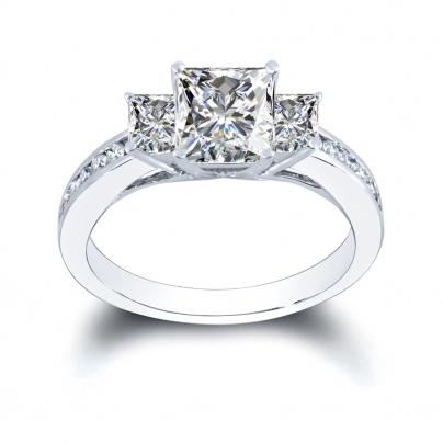 Channel Set Engagement Ring Settings