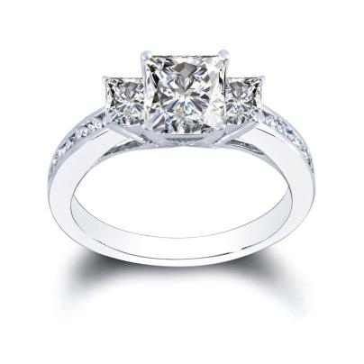 White Gold Princess cut Engagement Rings