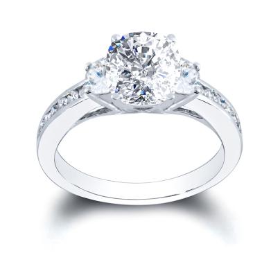 White Gold Cushion cut Engagement Rings