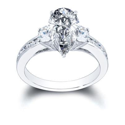 Antique Pear cut Engagement Rings