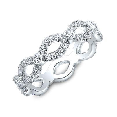 1 Carat Infinity Pave Bezel Diamond Eternity Wedding Band