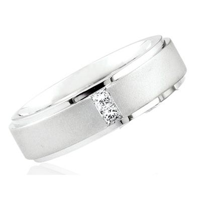 Princess Cut Diamond Wedding Ring for Men & Women