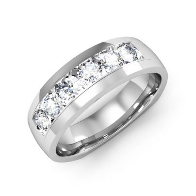 1.00ct Natural Round Euro Channel Diamond Men's Band